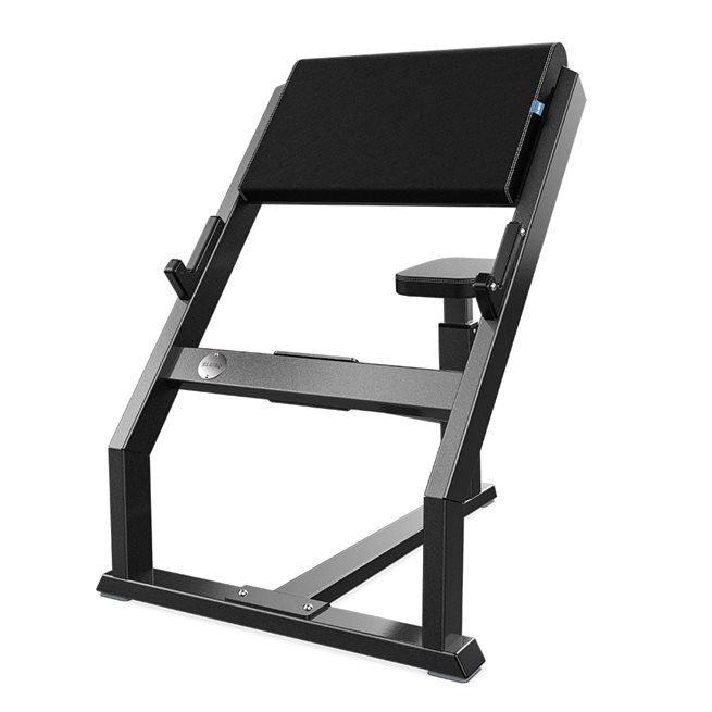 Eleiko Classic Seated Preacher Curl, Charcoal/Black